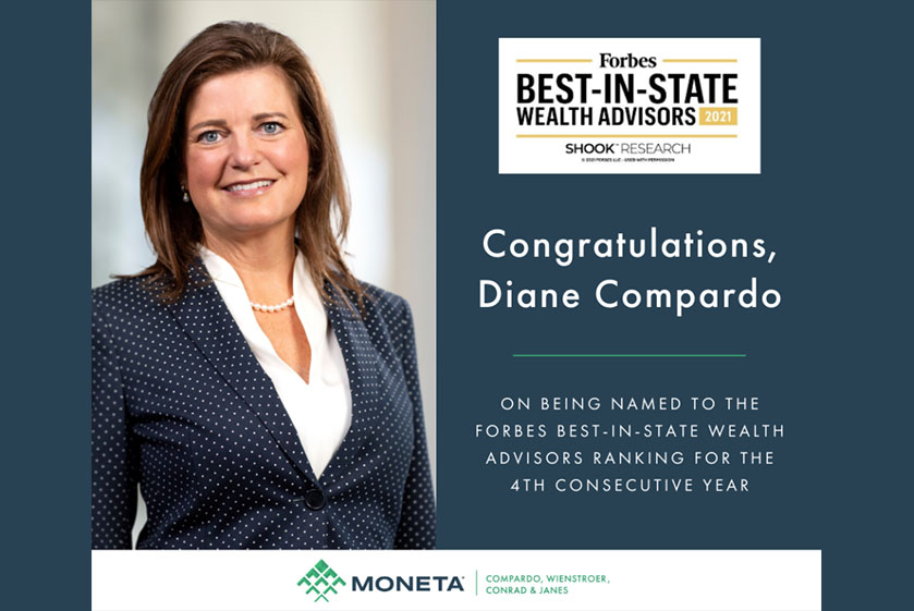 Diane Compardo Again Recognized by Forbes Shook as Highest Ranked Female Advisor in Missouri