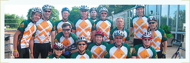Moneta employees bike for a cause
