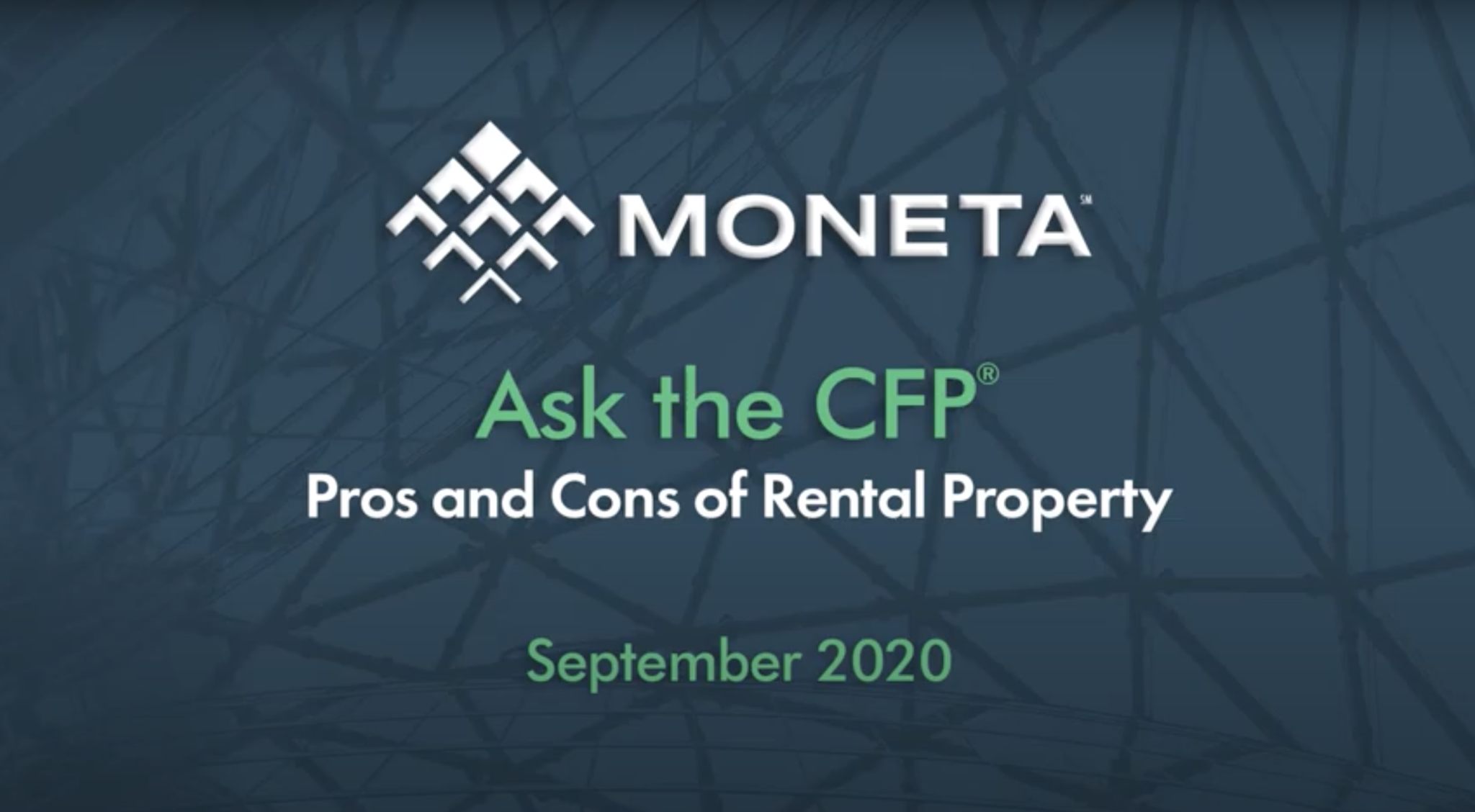 Ask the CFP- Pros and Cons of Rental Property.